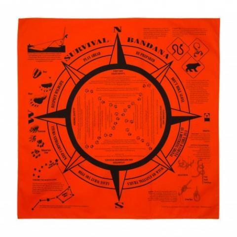Bandana de survie fluo orange Made in USA
