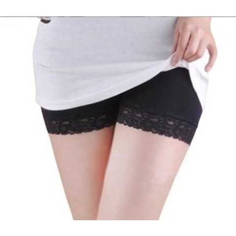Brief  Cotton  Girl  Casual  Modal Sexy Lace Brim Leggings Safety Shorts/ Hot Pants Panties, 2 pcs/lot, 3 colors-in Shorts from Apparel & Accessories on Aliexpress.com