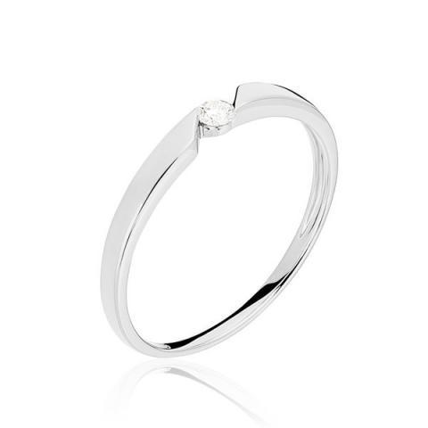 Bague Anilie Or Blanc Et Diamants - B3DFBDW0QQG - Marc Orian