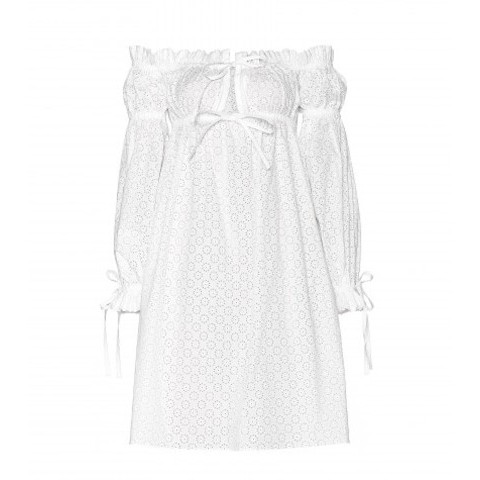 mytheresa.com -  Cotton broderie anglaise dress - short - dresses - clothing - Luxury Fashion for Women / Designer clothing, shoes, bags