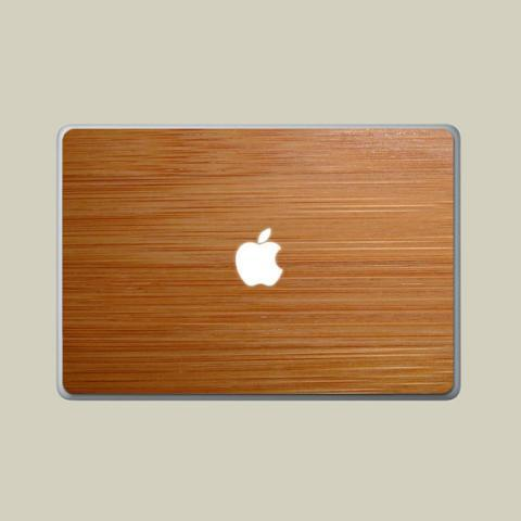 Dark Bamboo Real Wood MacBook Decal Sticker Skin by WoodDecals