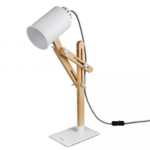 Tomons Led Desk Lamp Wooden Multi-Angle Swing Arm Designer Table Office LED Lamp Bedside Nightstand Reading Study Work Lamp Light - White - - Amazon.com