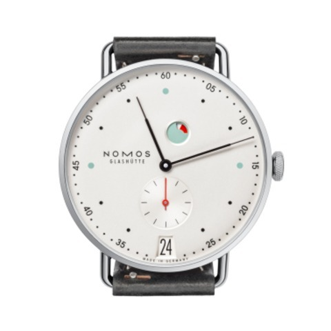Metro Datum Gangreserve sapphire crystal back |  Beautiful watches purchased online. Directly from NOMOS Glashutte.