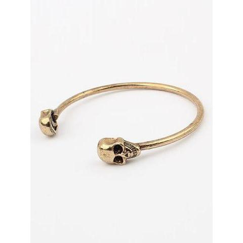 Golden Skull Bangle | Choies