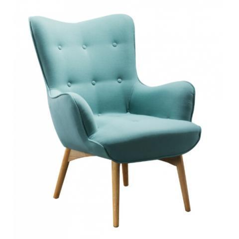 Fauteuil scandinave turquoise