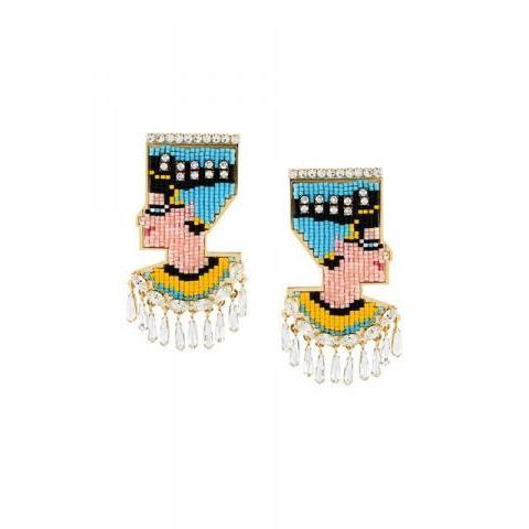 Shourouk 'nefertiti Bo' Clip-on Earrings - Elite - Farfetch.com
