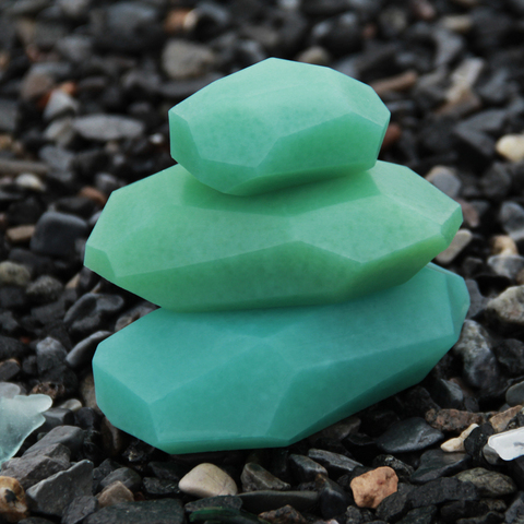 PELLE — NEW: Special Set of 3 Stacking Soap Stones: Sea Glass/Pine Mint