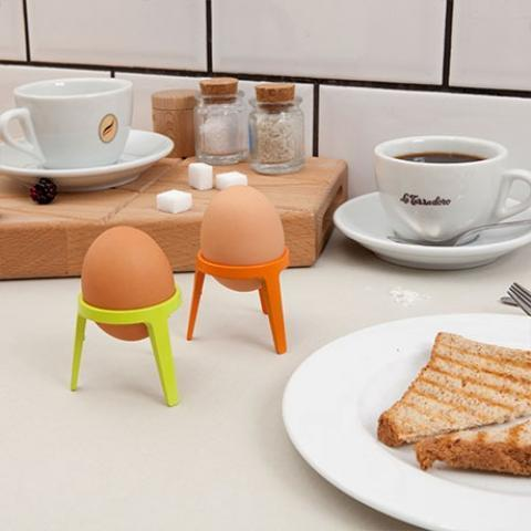 MONOQI | 4 Rocket Egg Cups - Orange