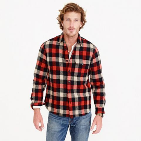 Shirt-jacket in essential check : shirts | J.Crew