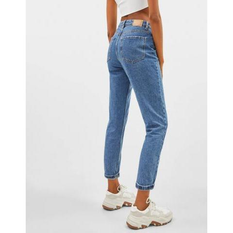 Jean coupe mom taille haute - High Waist - Bershka France