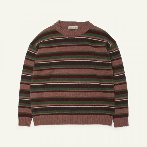 Goofy Creation Lambs Wool Stripe Knit Sweater | Kinoko