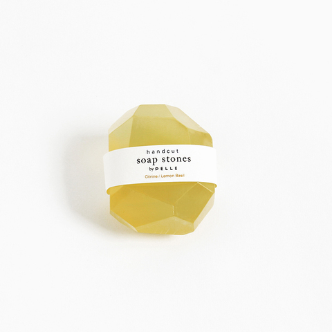 PELLE — Soap Stones by PELLE: Citrine/Lemon Basil Nugget 2oz