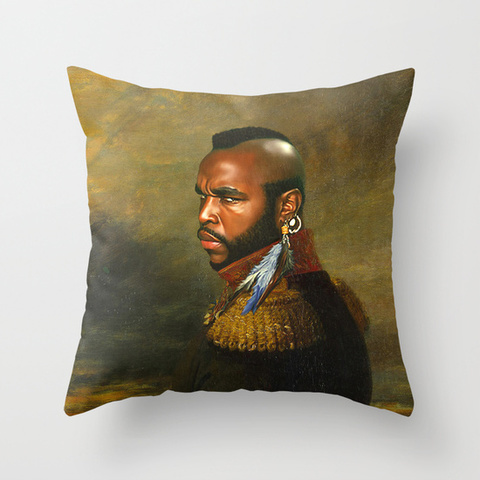 Mr. T - replaceface Throw Pillow by Replaceface | Society6