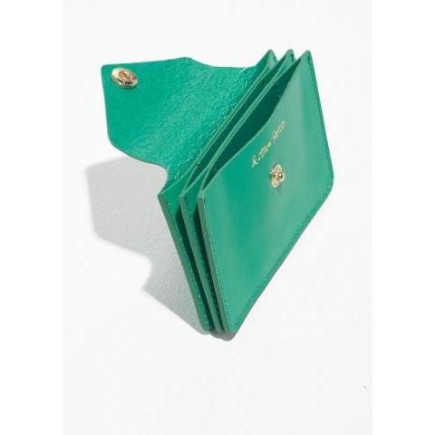 Leather Card Holder - Green - Wallets - & Other Stories FR