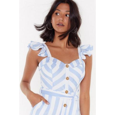 Stripe Hand Rule Wide-Leg Button-Down Jumpsuit | Shop Clothes at Nasty Gal!