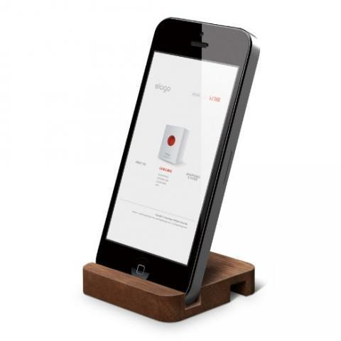 Amazon.com: elago W Stand(natural wood) for iPhone 5, ipad Mini (Angle support for FaceTime) (Walnut): Computers & Accessories