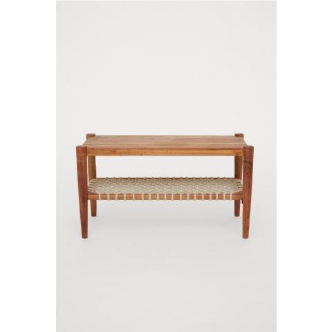 Table basse en bois - Marron/écru - Home All | H&M FR