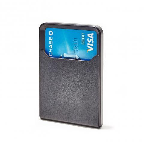 Minimalist Wallet: Leather, Steel & Anodized Aluminum