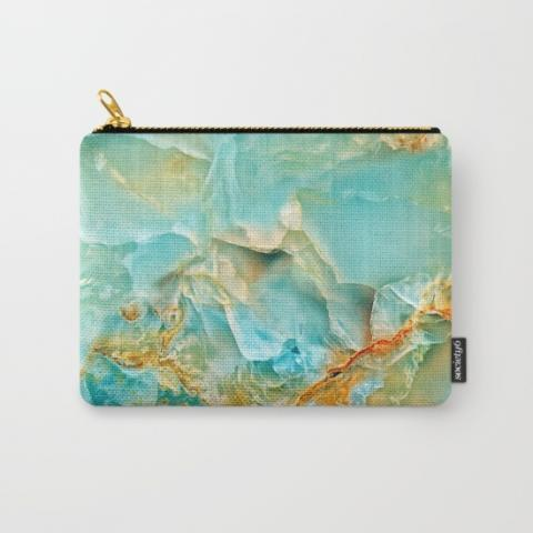 Onyx - blue and orange Carry-All Pouch by Patterns and Textures | Society6