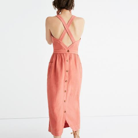 Garment-Dyed Apron Maxi Dress : casual dresses | Madewell