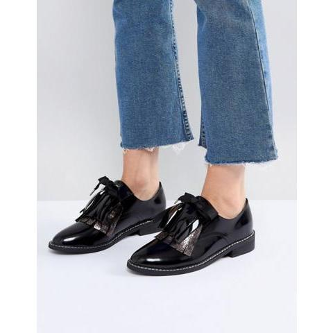 ASOS | ASOS MONDAY Leather Flat Shoes