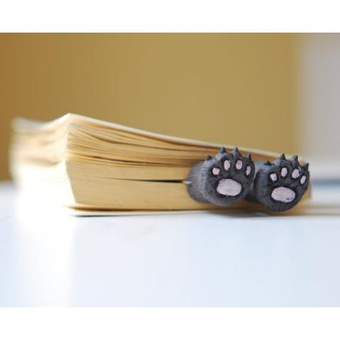 Cats paws in the book Bear paws Unusual art by MyBookmark on Etsy