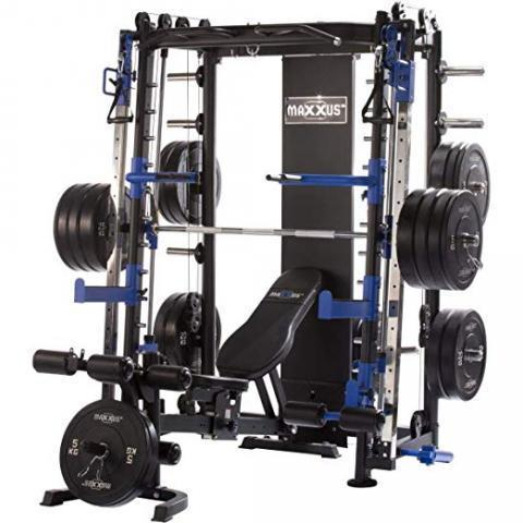 Maxxus Multipress 10.1 Station de Musculation Universelle -Power Cage à Squat -Barre d'Haltère Guidée -Banc de Musculation Inclus -Double Barre de Traction Reglable en Hauteur -Charge 250kg: Amazon.fr: Sports et Loisirs