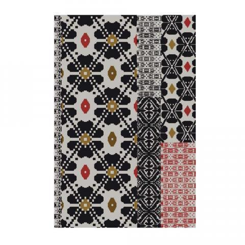Sardinian Rug - New Flowers Dark Colors by Moroso