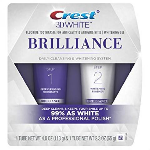 Amazon.com: Crest 3D White Brilliance Toothpaste and Whitening Gel System, 4.0oz and 2.3oz: Beauty