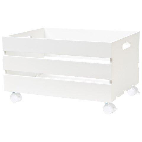 JOX White Storage Box With Wheels | AlexandAlexa