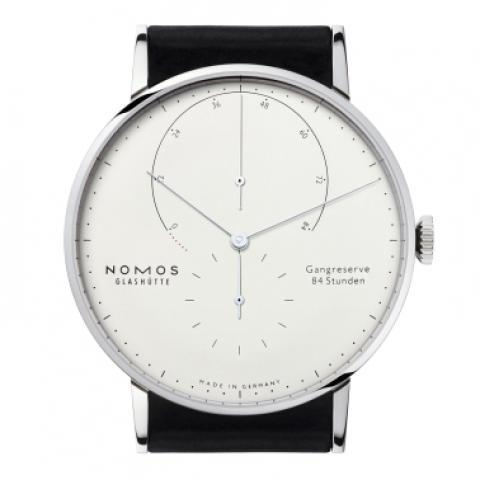 Lambda Weißgold sapphire crystal back | Beautiful watches purchased online. Directly from NOMOS Glashutte/SA.