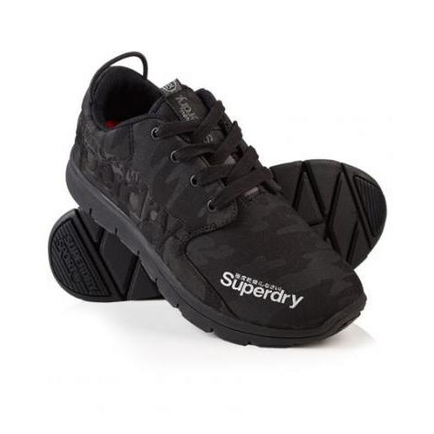 Womens - Scuba Runner Trainers in Black Camo | Superdry