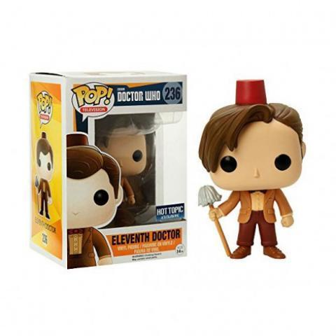 Figurine POP Doctor Who 11th Doctor with Fez & Mop (Exclusive)