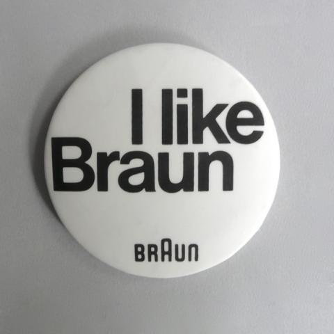 Braun electrical - Literature / artwork - I like Braun badge