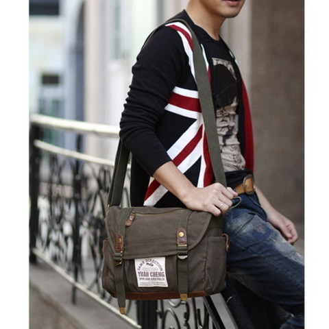 rustic classic school messenger bags in canvas and suede · Vintage rugged canvas bags · Online Store Powered by Storenvy