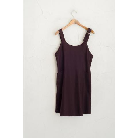 Brace Shoulder Detail Dress, Wine