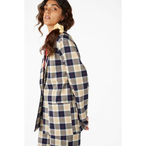 Long blazer - Checkered - Coats & Jackets - Monki FR