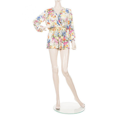 Strike A Posy Floral Romper - White + Multi | Daily Chic