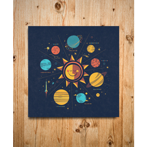 Brent Couchman Design & Illustration - Shop - Solar System - $ 30