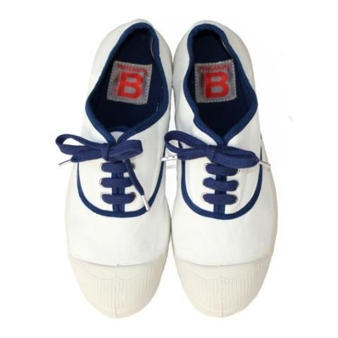 Tennis colorpiping marine sur Bensimon