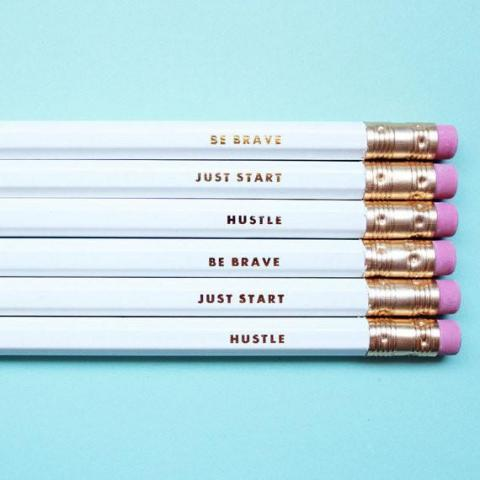 Inspirational Pencils, Set of 6 – Charm & Gumption