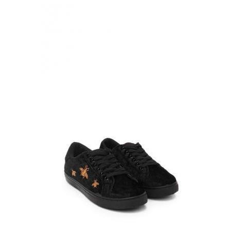 Spelling Bee Velvet Sneaker | Shop Clothes at Nasty Gal!