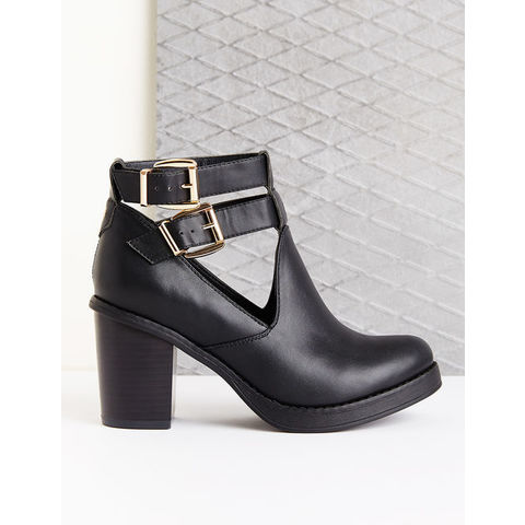 Bottines simili cuir noires - Jennyfer e-shop
