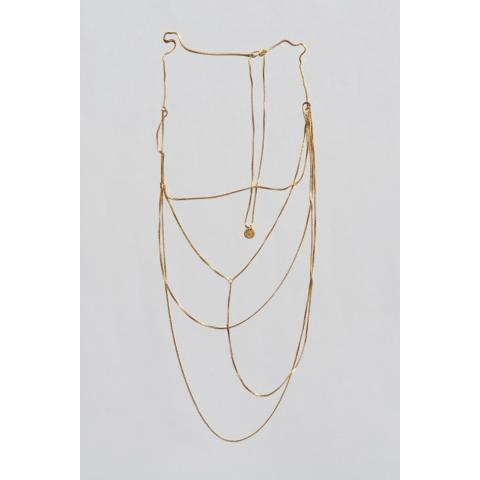 Gold, gold-plated Fine Wild Necklace · Saskia Diez