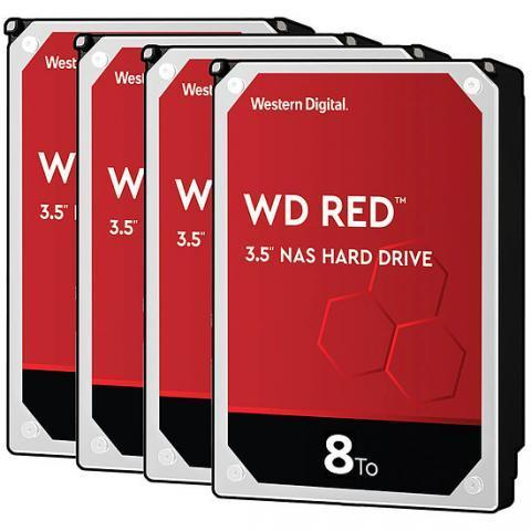 Western Digital WD Red - 8 To - 256 Mo - Pack de 4 - Disque dur interne Western Digital sur Materiel.net