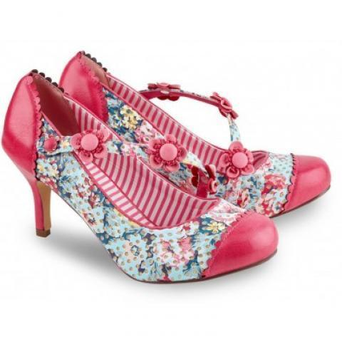 Chaussures Escarpins Vintage Pin-Up Rockabilly 50's Lucky Love - Chaussures