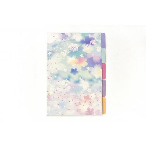 5PCS of Set Pastel Watercolor Sakura Starry Sky Filofax
