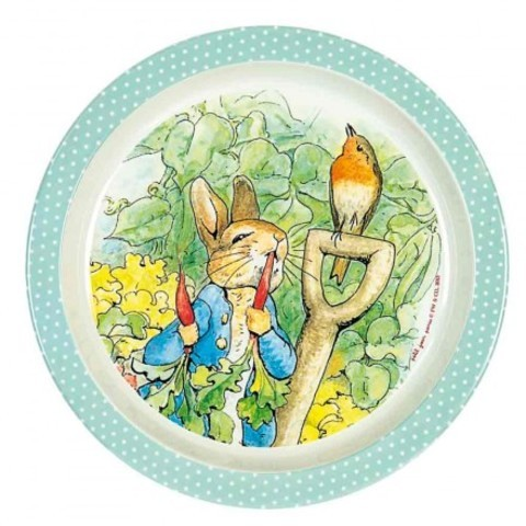 Assiette 21,5 cm mélamine Peter Rabbit  - La Folle Adresse