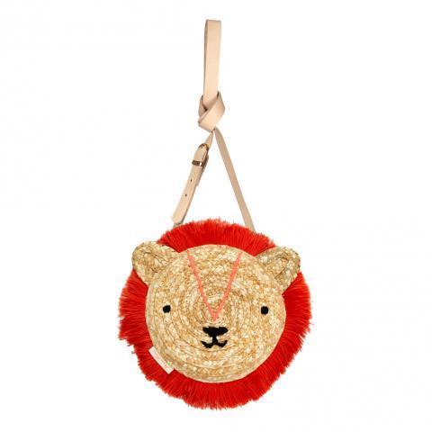 Sac à main lion en osier Naturel Meri Meri Mode Enfant