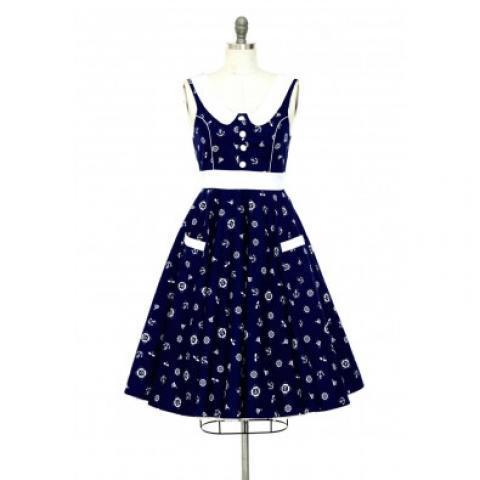 Robe Pin-Up Rétro Vintage 50's Rockabilly Lucy Sailor